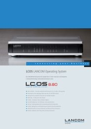 LCOS LANCOM Operating System - LANCOM Systems