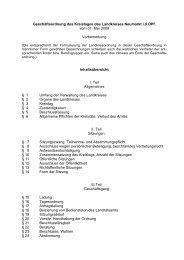 Geschäftsordnung für den Kreistag, den Kreisausschuss und ...