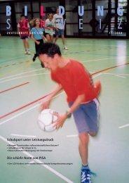 Schulsport unter Leistungsdruck Die schiefe Norm von ... - beim LCH