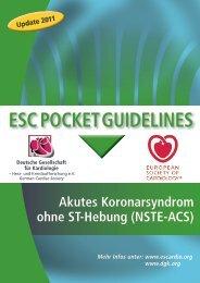 ESC POCKET GUIDELINES - Leitlinien - Deutsche Gesellschaft für ...