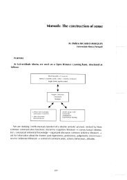 Manuals: The construction of sense