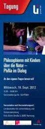Tagungsprogramm Philosophieren mit Kindern (PDF 450 KB)