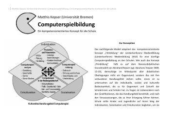 kompetenzorientierten Konzept Computerspielbildung - Hamburg