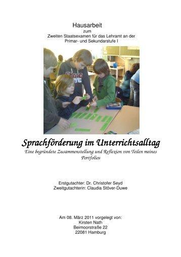 Sprachförderung im Unterrichtsalltag - Hamburg