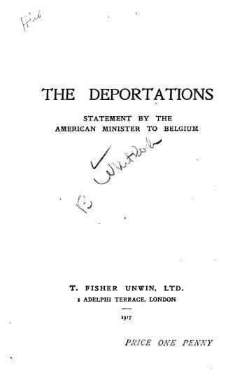 THE DEPORTATIONS