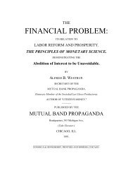 The Financial Problem, 3rd ed. 1891 - The Libertarian Labyrinth