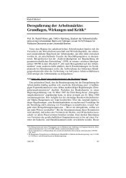 Deregulierung der Arbeitsmärkte: Grundlagen, Wirkungen und Kritik*