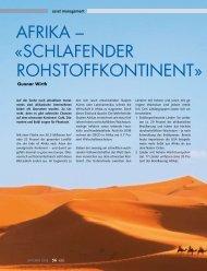 AFRIkA – «SCHLAFENDER ROHStOFFkONtINENt»