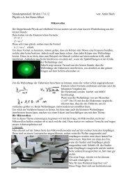 Amin Bach Physik eA bei Herrn Albert - Lutherschule