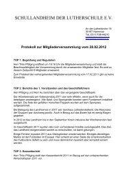 Förderverein Landheim Protokoll Hauptversammlung ... - Lutherschule