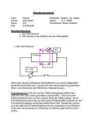 Stundenprotokoll vom 12.11.2009 Physik - Lutherschule