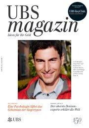 Ausgabe 1/2012 - UBS magazin