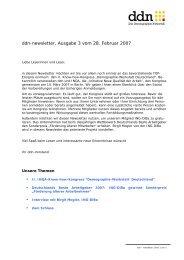 ddn-newsletter, Ausgabe 3 - Das Demographie Netzwerk