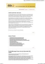ddn-newsletter, Ausgabe 17 - Das Demographie Netzwerk