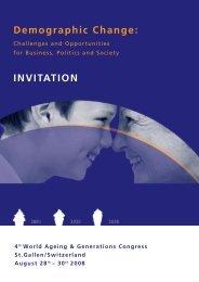 Demographic Change: INVITATION - Das Demographie Netzwerk