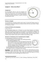 Uhren ohne Ziffern - Mathematik Bildungsserver Rheinland-Pfalz