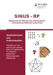 SINUS - RP - Mathematik Bildungsserver Rheinland-Pfalz