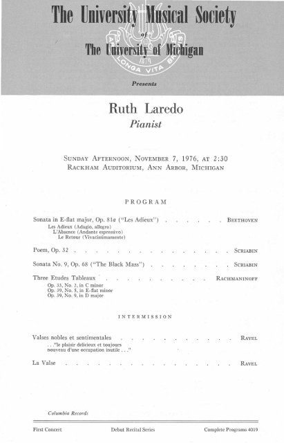 Ruth Laredo Pianist