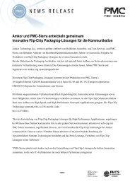 Amkor und PMC-Sierra entwickeln gemeinsam innovative Flip-Chip ...