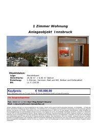 1 Zimmer Wohnung Anlageobjekt Innsbruck