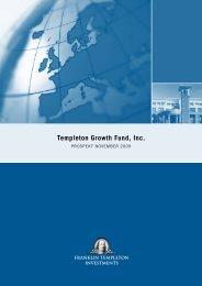 Templeton Growth Fund, Inc. - fundinfo.com