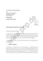 Parteiordnungsverfahren gegen Frau Josefa Schmid