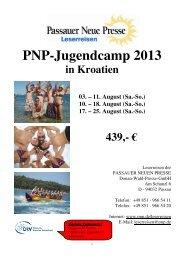 13 08 03 PNP Reiseprogramm Jugendcamp Kroatien