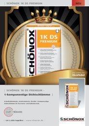 | SCHÖNOX 1K DS PREMIUM - 1-komponentige ... - Schonox