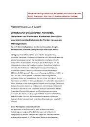 Presseinfo zur neuen Wärmegesetz-Broschüre - Medien-Service ...