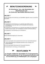 Benutzungsordnung Sportstaetten ab 01.01.2013 - Messe Karlsruhe