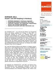 [PDF] Pressemitteilung: EUNIQUE 2011 - Presse - Messe Karlsruhe