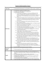 Baustein 5: Positionierungsübung