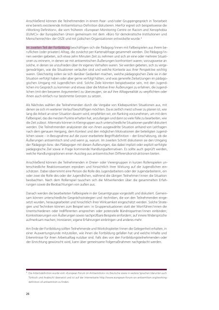 Pädagogische Ansätze zur Bearbeitung von ... - Migration-online