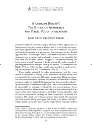 Is Lookism Unjust?: The Ethics of Aesthetics and Public Policy ...