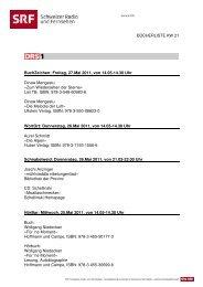 SRF Bücherliste KW 21 1