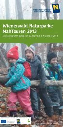 Wienerwald Naturparke NahTouren 2013