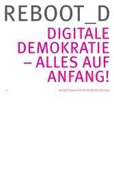 Reboot_D – Digitale Demokratie – Alles auf Anfang - Netzpolitik