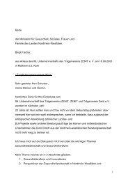 Rede Birgit Fischer - ZENIT eV - ZENIT GmbH