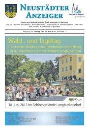 Neustädter Anzeiger - Neustadt in Sachsen