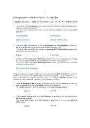 Lösung: System Architektur Klausur 25. März 2008 - next-internet.com