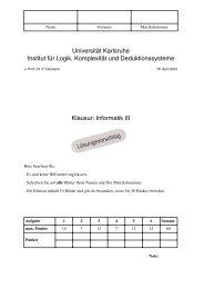 Informatik III Lösungsvorschlag - next-internet.com