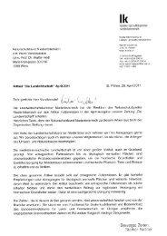 Antwort der NÖ Landeslandwritschaftskammer