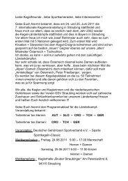 Kegeln national - Bayerischer Gehörlosen Sportverband ev