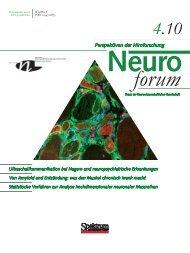 Neuroforum 4/10 - Neurowissenschaftliche Gesellschaft eV - MDC