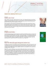 Newsletter 03/2007 - innovital