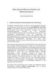 DER LÄNDLICHE RAUM ALS LEBENS- UND WIRTSCHAFTSRAUM
