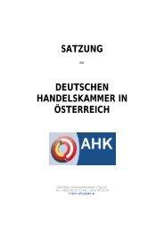 Satzung - der Deutschen Handelskammer in Österreich
