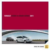 RENAULT SCÉNIC & GRAND SCÉNIC 2011