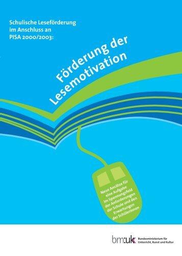 Förderung der Lesemotivation