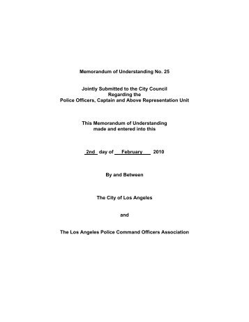 Memorandum of understanding no 18 amendment no 3 memorandum of understanding no 25 city administrative officer spiritdancerdesigns Image collections